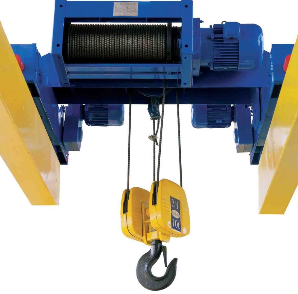 Double Girder Hoist Standard Type1 1024x1008 Pa lăng là gì? có bao nhiêu loại pa lăng?