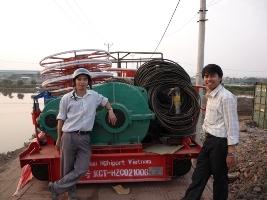 Xe con đồng bộ 20 tấn chiều cao nâng 37m